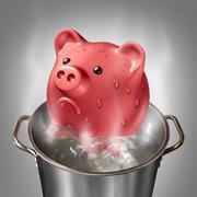 Financial Heat - stock illustration
