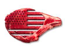 American Beef Industry - stock illustration