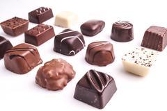 Delicious praline Dessert Chocolate Stock Photos