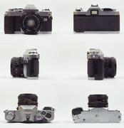 Canon Old Camera all view - stock photo