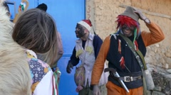 Mummers in the village of Turia - Bulgaria, Europe - stock footage