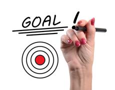 Concept of goal - stock photo