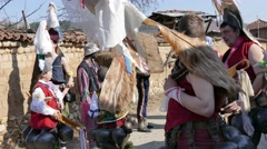 Mummers in the village of Turia - Bulgaria, Europe Stock Footage