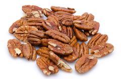 Heap of pecan nuts Stock Photos