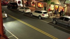 Nighttime Street Town Of Mount Dora Florida Stock Footage