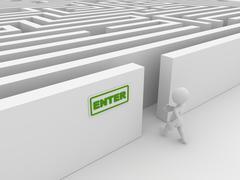Entering the maze Stock Illustration