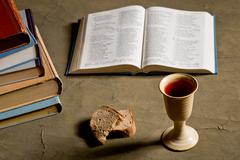 communion under both kinds - stock photo