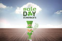 Composite image of st patricks day sale ad - stock illustration