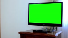 TV(television) - green screen - stock footage