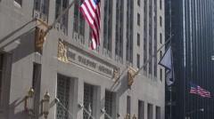 Waldorf Astoria Tilt Down in the Winter Stock Footage