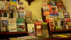 Paper travel guides Stock Footage