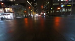 4K UltraHD A Point of view drive (POV) in large city at night Stock Footage