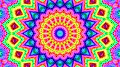 4K Colorful looping kaleidoscope sequence - stock footage