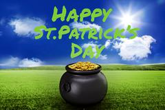 Composite image of happy st patricks day Stock Illustration