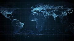 Cyber world map - stock footage