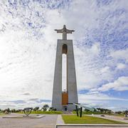 Cristo-Rei or King Christ Sanctuary in Almada, Portugal Stock Photos