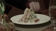 Waldorf Salad. Waldorf Astoria Food. Stock Footage