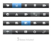 Network & Server // Blackbar Series - stock illustration