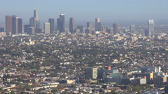 Timelapse Los Angeles skyscraper suburb business center tower landmark icon day  Stock Footage