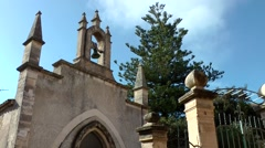 Spain Mallorca Island Sineu village 005 chapel and entrance of cemetry - stock footage