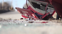 Car Wreck Stock Footage