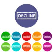 Decline flat icon - stock illustration