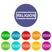 Stock Illustration of Religion flat icon