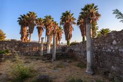 ancient city ruins, Greece - stock photo