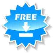 Free download blue icon - stock illustration