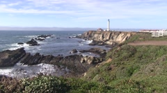 Point Arena lighthouse Stock Footage
