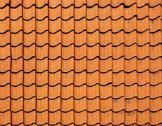 Texture tile roofs. Stock Photos