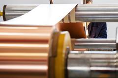 copper foil bending machine - stock photo
