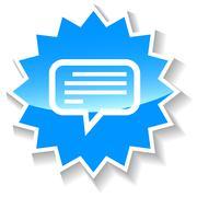 Stock Illustration of Talk blue icon