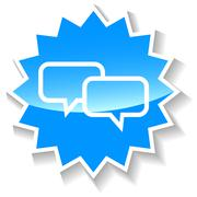 Dialog blue icon - stock illustration