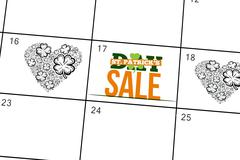 Composite image of patricks day sale ad - stock illustration