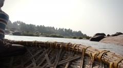 India ferryman Stock Footage