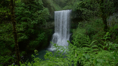 View of Lower South Falls in Silver Falls State Park - stock footage