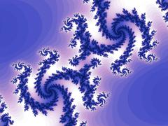 Decorative fractal background with spirals Stock Illustration