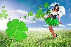 Composite image of irish girl smiling - stock illustration