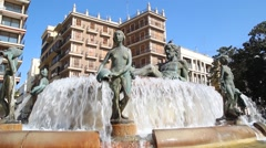Turia Fountain Stock Footage