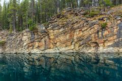 Horseshoe Lake in Jasper National Park Stock Photos