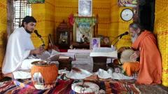 Brahmin ritual Stock Footage