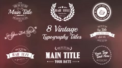 Vintage Typography Titles Package - After Effects Templates Stock After Effects