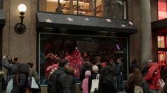 Macys Holiday Windows. Black Friday.  - stock footage
