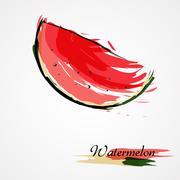 Watermelon slice Stock Illustration