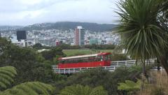 Wellington CableCar travelling downhill Stock Footage
