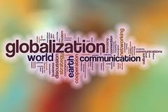 Stock Illustration of Globalization word cloud with abstract background