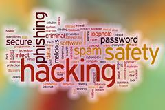 Hacking word cloud with abstract background Piirros