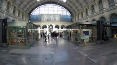 Gare du Nord Station in Paris, France Stock Footage