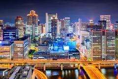 Osaka, Japan Cityscape Stock Photos